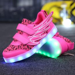 047bd950119b4 chaussures led rose enfants Promotion 25-37 Taille USB Panier De Recharge Led  Chaussures Pour