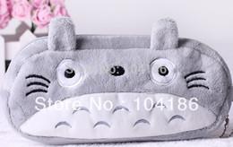 Wholesale Totoro Wallet Wholesale - Wholesale- 6PCS Japan Totoro BAG Pouch Case ;Pendant Cosmetics Storage Coin Purse Wallet Bag Case