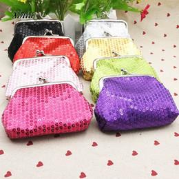 Wholesale Cheap Purses Wallets Wholesale - Women Ladies Small Sequin Wallet Coin Purse Credit Card Holder Fashion Party Clutch Girls Handbag Bag Hasp Women Purses Cheap