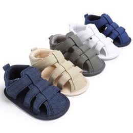 2019 sapatos de bebê sola Adorável Infantil Criança Crianças Baby Boy Girl Unisex Sapatos de Verão Macio Único Berço Vaca Muscular Outsole Sandálias 0-18Meses sapatos de bebê sola barato