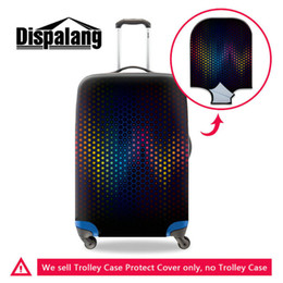 Travel Luggage Cover Geometric Triangle Dot Suitcase Protector Baggage Case Dustproof Stretchy Fits 26-28 Inch