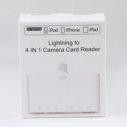 Porta della scheda sd online-Ligitning To 4 in 1 Adattatore per lettore di schede per fotocamere Porta USB Micro SD TF USB per computer iPhone iPod