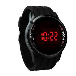 Herren-gummi-touch-led-uhr online-Leben Wasserdicht Digitaluhren Herren Silikonband LED Touchscreen Armbanduhr Herren Gummi Sport Uhr Relogio Masculino