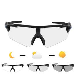 Décoloration des lunettes de soleil en Ligne-2018 Marque Ev Photochromic Sunglasses 5 Lens Cycling Lunettes Auto Décoloration Vtt Vélo De Montagne Finshing Lunettes De Lunettes