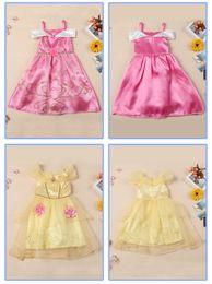 Wholesale Cute Girl Fairy - Fairy tale cute dress girl dress vintage flower dress purple Cotton princess aurora flare sleeve free shipping
