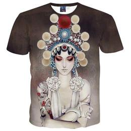 Wholesale Beijing Summer - 3D T shirts China Style Men Women's T-shirt 3d summer tops printed Beijing opera actor 2018 Casual t shirt short sleeve tees