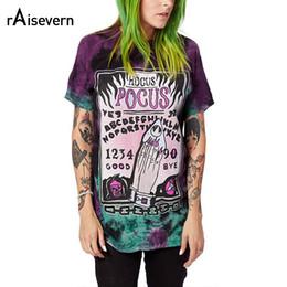 Maglietta estiva raisevern online-Raisevern Harajuku 3D T Shirt Alien Pocus Stampa Donna Summer Top Cool Hip Hop T-Shirt da donna Streetwear Plus Size Dropship