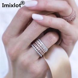 2019 meninas ouro dedo anel de moda Imixlot Criativo 5 pçs / set Mulheres Mid Dedo Empilhamento Anéis da Moda da menina de Ouro E Prata Pilha Anéis Definir Wedding Band Mulheres desconto meninas ouro dedo anel de moda