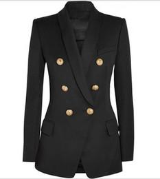 Nuevo con la etiqueta de la marca B de calidad superior diseño original de las mujeres de doble botonadura chaqueta delgada hebillas de metal chaqueta chal retro chal Outwear desde fabricantes