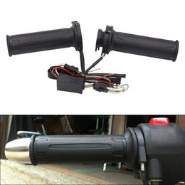 Wholesale Universal Motorcycle Handlebar Switch - 12V 12W ~ 24W 22MM Motorcycle Universal Adjustable Temperature Electric Heated Handle with Adjustable Switch and Spring Stretch Coat MFF_40G