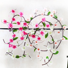 Wholesale magnolia wall - LIN MAN New Artificial Flower 1.8M Magnolia Vine Yulan Rattan For Home Decoration Wedding Party Plant Wall Accessories Simulation Flower