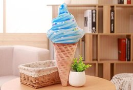 Wholesale Air Conditioned Pillow - creative multicolor air conditioning BABY KIDS PILLOWS famous goods nordic CANDY SWEET ICE CREAM FUNNY PLUSH TOY PILLOW