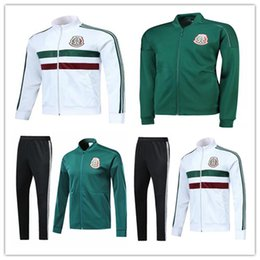 Wholesale cup teams - AAA+ 2018 2019 Mexico soccer Jacket training suit 18 19 World Cup Mexico tracksuit CHICHARITO national team Football jacket sportswear set