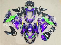 Wholesale gsxr fairing purple - 3 gifts Fairing Kits For K9 09-14 SUZUKI GSX R1000 2009 2010 2011 2012 2013 2014 GSXR 1000 09 10 11 12 13 14 GSXR1000 Purple Green y13