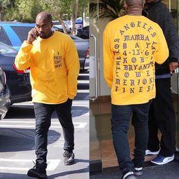 Kobe camicie online-T-Shirt Mi sento come Kobe T Shirt Uomo Kobe Retire Commemorative Mamba T-Shirt Hip Hop Sport Tees Tops Kanye West