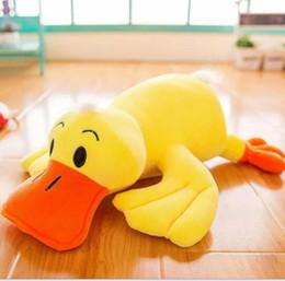 stoffkissen Rabatt 35cm Ente Puppe gefüllt Nanopartikel gelb Ente Plüschtiere Kissen Kissen Ente Tuch Puppe Kinder Spielzeug Geburtstagsgeschenk YH1301