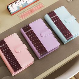 Planificador de cuaderno online-Cute Macaron Leather Spiral Notebook A5 A6 Original Oficina Diario Personal / Planificador de la Semana / Organizador de la Agenda Papelería WJ-XXWJ265-