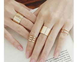 Wholesale Midi Top - 3Pcs Set Fashion rings Top Of Finger Over The Midi Tip Finger Above The Knuckle Open Ring 20 Sets Free Shipping