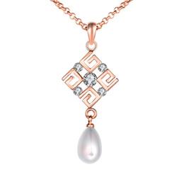 2019 collana di perle per il giorno delle nozze Collana in oro zircone con perle bianche perline Collana in oro bianco con perle coltivate perline collana di perle per il giorno delle nozze economici