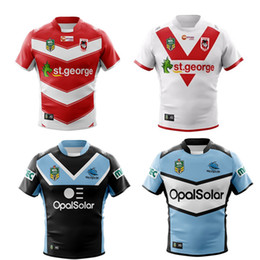 Wholesale Top New Products - ST GEORGE DRAGONS 2018 Away JERSEY size S--3XL New products are listed, top quality , free delivery. 2018 PARRAMATTA EELS Home rugby