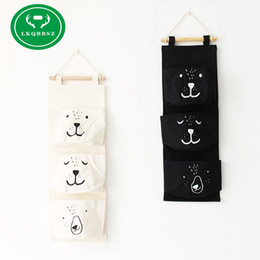 Wholesale Closet Child - Wall Hanging Storage Bags Organizer Linen Closet Children Room Organizer Pouch for Toys Books Cosmetic Sundries Hanging bag