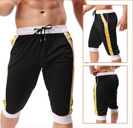 16e9bdf219d 1pcs brand men shorts cotton beach boxer sexy sports wear baseball surf  capri designer running shorts 2015 new gay gym trunks