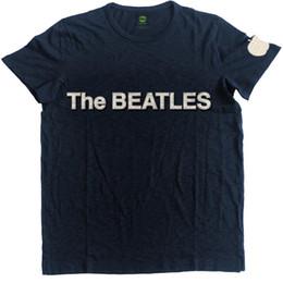 Pommes appliques en Ligne-T-shirt flammé appliques 'Logo And Apple' The Beatles - NEU UND OFFIZIELL