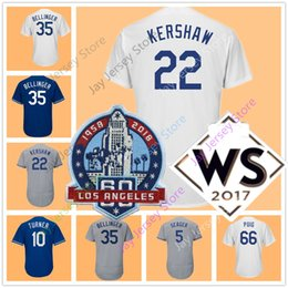 Wholesale Gold Yellows - 60th Patch 22 Clayton Kershaw Jersey 42# 35 Cody Bellinger 5 Corey Seager Justin Turner Chris Taylor Yasiel Puig Men Women Youth Kid
