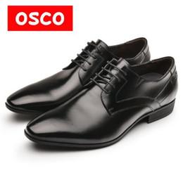 Wholesale Gentleman Shoes - OSCO Fashion Men Shoes Genuine Leather Men Dress Shoes Men's Business Oxford Gentleman Shoes Man #RU0004