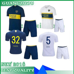 a187d8b28 2018 2019 Boca Juniors soccer jersey home away ADULT KIT TEVEZ gago 18 19  PEREZ Pavon Benedetto MEN SET Edwin Cardona football shirts