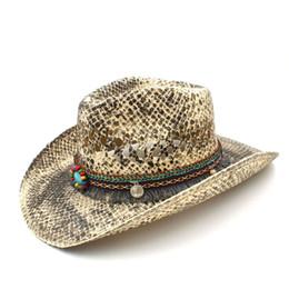 a374685b14a Fashion Women Straw Western Cowboy Hat Summer Handmade Weave Lady Sombrero  Cowgirl Caps Bohemian Tassel Ribbon Size 56-58CM