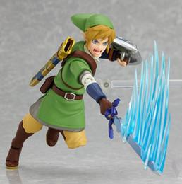 Link móvel on-line-Hot! Novo 14 cm Legend Of Zelda Link Coleção Móvel Toy Action Figure Boneca de Presente De Natal Com Caixa Original