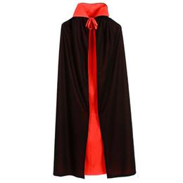 New Halloween Manteaux Trench Double Couleur Rouge Noir Pourim Carnaval Adulte Elfe Sorcière Long Manteau Costumes d'Halloween Pour Femmes Hommes ? partir de fabricateur