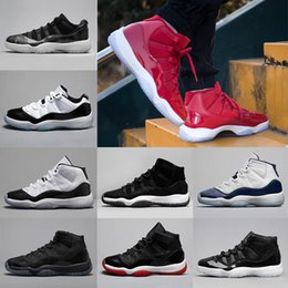 Wholesale Prom Shoes Size 11 - 11 11s Prom Night Basketball Shoes Man Women gym red Navy Concord Bred Space Jam Barons 11s XI Athletics sports Sneakers size 36-47
