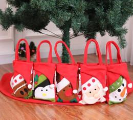 2019 grandi sacchetti di santa all'ingrosso Natale tote bag regalo titolari vacanza nuovo anno favori candy bag santa renna pupazzo di neve regalo borse presenti avvolgere non tessuto rosso XMAS decori