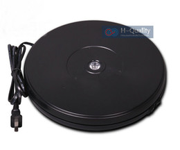 Wholesale Product Hold - 250X40MM Electric Rotary Swivel Turntable Product Display Stand Base With LED Light 40 Secs Constant Speed Hold 15KGS 2 Color