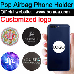 Wholesale Package Logos - Wholesale Pop Up Cellphone Stand Universal Hot Socket Mobile Phone Holder For Smarphone Tablet Iphone X With Retail Package Free custom logo