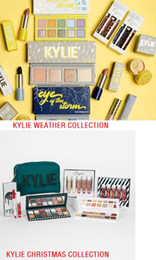 Wholesale Christmas Eyeshadow - New Arrival 2018 kylie Weather Collection Christmas Holiday Edition Bundle Makeup Gift Set Storm Eyeshadow Palettes Beauty Kit Free Shipping