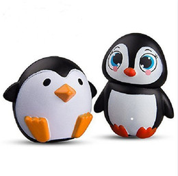 Wholesale Bread Mixes - Squishy Penguin Mixed Male Female 11cm Slow Rising Bread Relieve Stress Cake Kawaii Animal Cell Phone Strap Phone Pendant Key Chain Toy Gift
