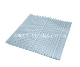 Liberi il radiatore elettronico di alluminio ultrasottile del dissipatore di calore della lampada del LED 158 * 7 * 150MM dissipatore di calore di alluminio per luce del LED da vga carta stock fornitori