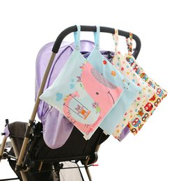 7f299b7fb5 Baby Diaper Bags Wetbag Single Pocket Changing Wet Bag Waterproof Baby  Cloth Nappy Organizer Pouch Hanging Stroller Storage Bag