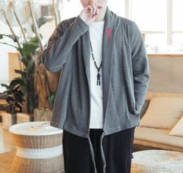 felpa cinese Sconti Felpa da uomo Cardigan stile cinese ricamo felpa allentata Design casual nuovo cappotto con cappuccio