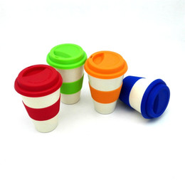 Wholesale Coffee Cup Top - New Novelty Products Top Grade Travel Eco Friendly Gift Coffee Cups Bamboo Fiber Powder Mugs 1 PIECE