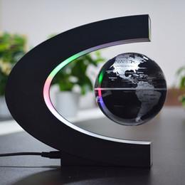 Lampada di levitazione online-Levitazione magnetica fluttuante globo mappa LED lampada da tavolo home decor luce notturna ufficio amico compleanno regali per bambini