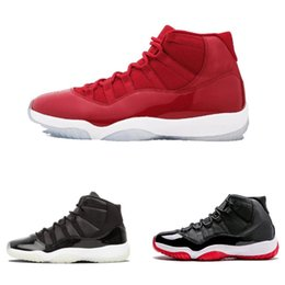red athletic Coupons - Hot sale 11 Prom Night Cap and Gown Gym Red Space Jam Win like 96 for 11s Men Basketball Shoes Athletic Sports Sneakers