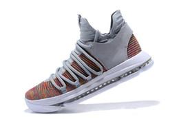 Wholesale Men Kd Shoe Cheap - Cheap 2018 Durants 10 Casual Shoes Basketball Shoes Men High Quality KD 10 Training Sneakers ZOOM KDX Athletic Shoes Size 7-12