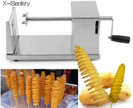 2019 cortadoras de patatas fritas Tornado máquina de corte de la patata máquina de corte en espiral patatas fritas máquina accesorios de cocina herramientas de cocina Chopper Potato Chip rebajas cortadoras de patatas fritas