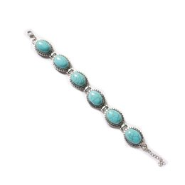 Wholesale Christmas Gift Specials - 2 Pieces 1 lot Special Vintage Round Larimar Gems 925 Sterling Silver Chain Bracelets Russia American Australia Weddings Bangles Bracelets