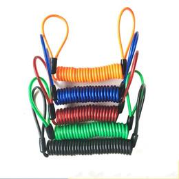 Cables de resorte online-Universal Motocicleta Disco de Bloqueo de Cable de Recordatorio Minder Extensible Anti Lost Bike Spring Cuerda de Alambre de Calidad Superior 3 4be gg