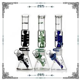 Argentina Illadelph Freezable Coil Tube 7MM beaker bongs tubos de agua de vidrio concentrado pipa pipas de agua fumar fumar embriagador envío gratis cheap tube beaker Suministro